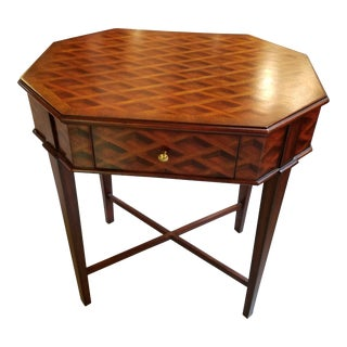 Maitland Smith Parquetry Walnut End Table