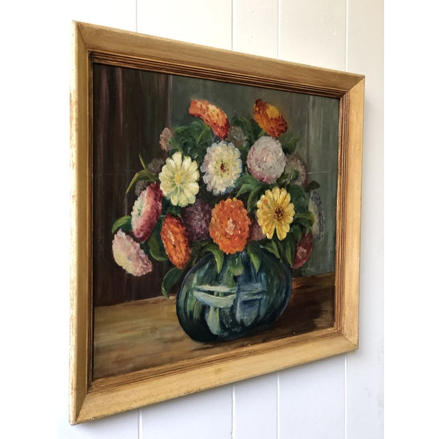 Bright and Cheerful 1940s Floral Still Life For Sale - Image 9 of 13