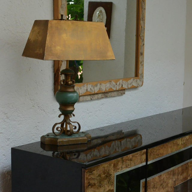 1950s Mexican Modernist Hollywood Regency Table Lamp For Sale - Image 5 of 5