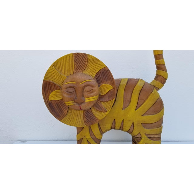 Gambone Guido Gambone Style Sun Lion Sculpture For Sale - Image 4 of 11