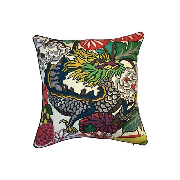 Schumacher Chiang Mai Dragon Pillow - Image 1 of 5