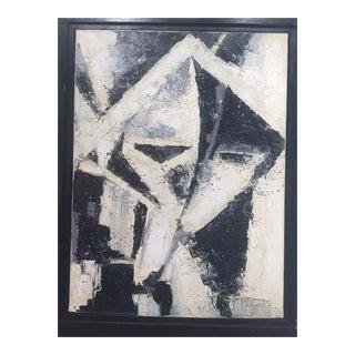 Vintage Cuban Painting, Framed For Sale