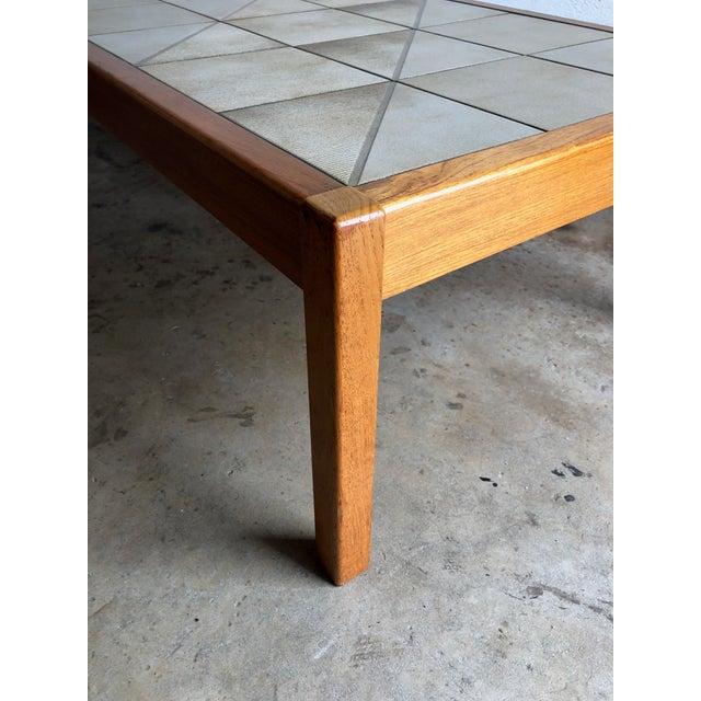 Gangsø Møbler Vintage Mid-Century Danish Modern Tile Top Coffee Table by Gangso Mobler For Sale - Image 4 of 10