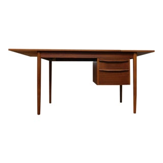 Mid Century Modern Danish Mobler Teak Expandable Adjustable Drop Leaf Sculpted Writing Desk Arne Vodder For Sale