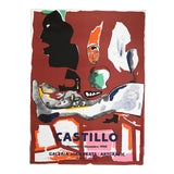 Image of 1990s Jorge Castillo Joan Prats Gallery - Barcelona Lithograph Poster For Sale