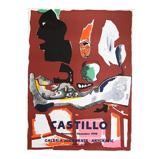 1990s Jorge Castillo Joan Prats Gallery - Barcelona Lithograph Poster For Sale