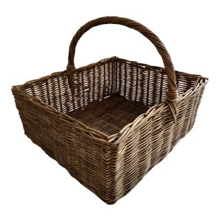 1950s Vintage Market Basket For Sale