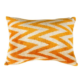 Modern Velvet Orange Sofa Pillow For Sale