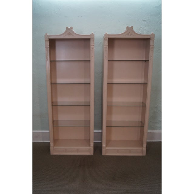 Custom Sized Bookcases Painted White