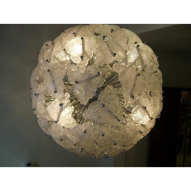 Mazzega Very Large-Scale Mid-Century Glass Sputnik Chandelier Italy circa 1960 For Sale In New York - Image 6 of 10