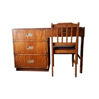 Dixie Campaigner Desk and Chair Set