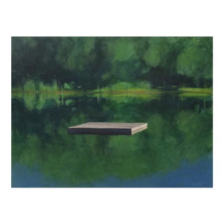 Raft on a Still Pond Painting by Stephen Remick