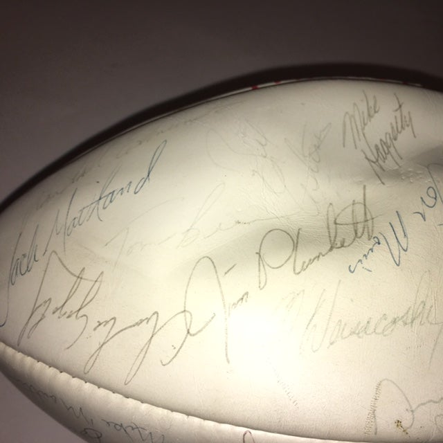 Vintage Autographed New England Patriots Football - Image 6 of 6