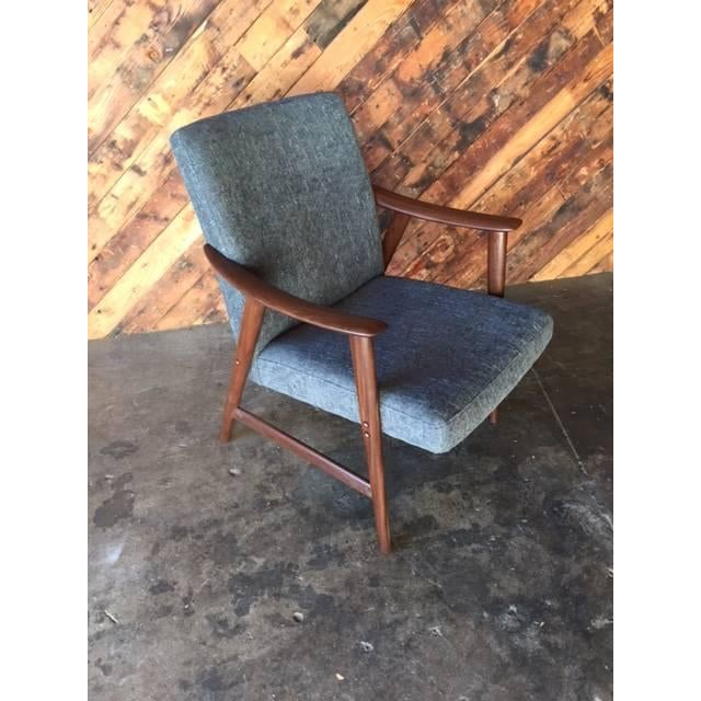 Adolf Relling Mid-Century Refinished Gray Chair - Image 3 of 6