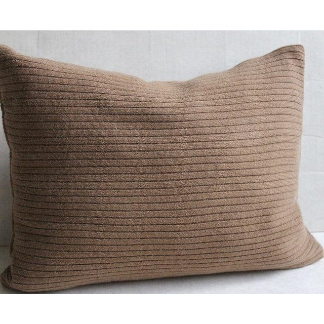 "Cashmere Cocoa Brown Patchwork Throw Pillow - 16"" X 12"" - Image 3 of 3"