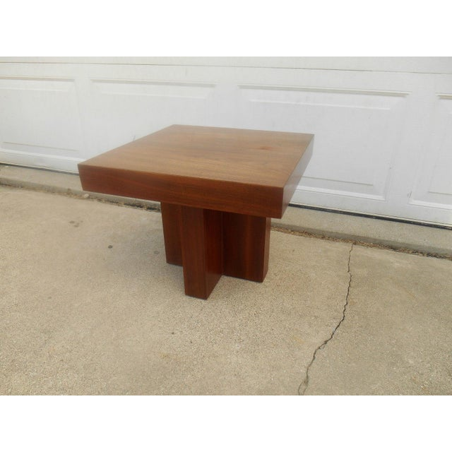 Mid-Century Danish Modern Walnut End Table - Image 4 of 6