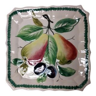 Italian Fruit Decorative Plate