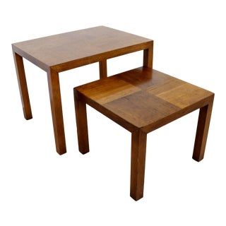 Mid Century Modern Wood Nesting Side End Tables by Lane Altavista 1960s - a Pair For Sale