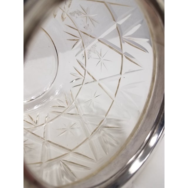Antique English Crystal Glass Biscuit Jar For Sale - Image 4 of 6