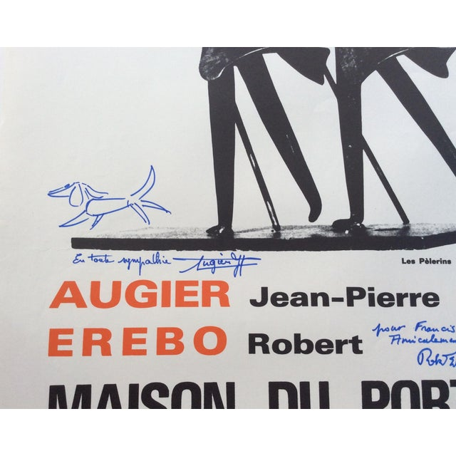 Original French art exhibition poster signed by both artists whose exhibit was being held. They are Jean-Pierre Augier a...