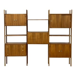 Mid Century Vintage Wall Unit For Sale