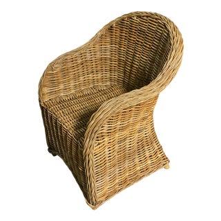 Rattan Wicker Outdoor Armchair For Sale
