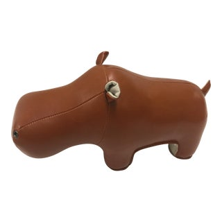 Zuny Faux Leather Hippo Bookend