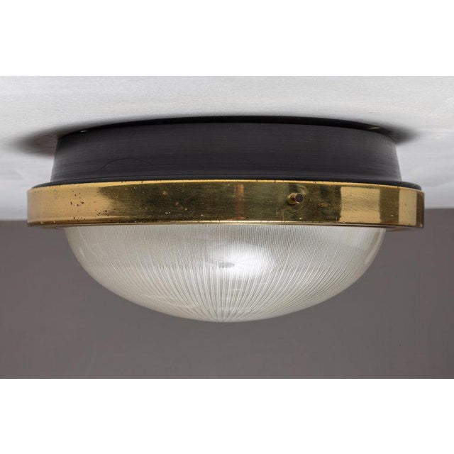 1960s 1960s Sergio Mazza Brass & Glass Wall or Ceiling Lights for Artemide - A Pair For Sale - Image 5 of 13