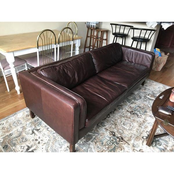 Pottery Barn Austin Espresso Leather Sofa