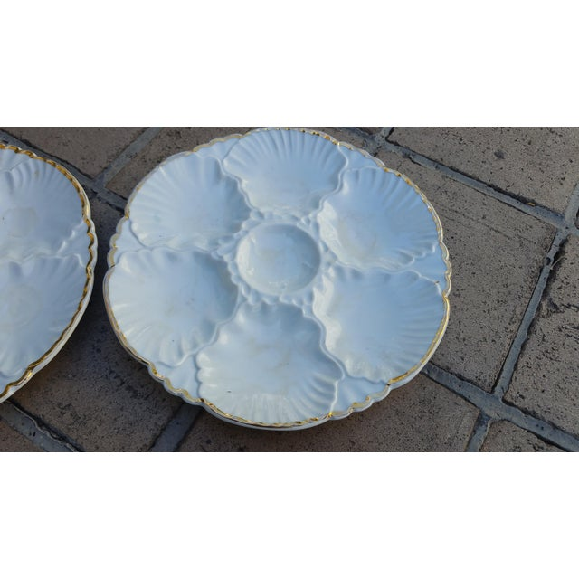 Antique French Oyster Plates - Set of 4 - Image 3 of 5