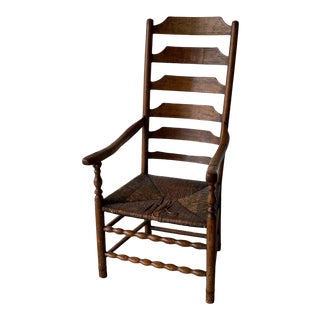 Early 20th Century Extended Ladder Farm Back Chair For Sale