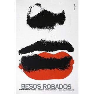 """""""Stolen Kisses"""" Cuban Serigraph Poster For Sale"""