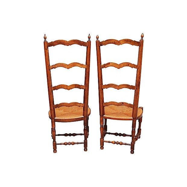 Late 19th Century French Side Chairs - Pair For Sale - Image 5 of 10