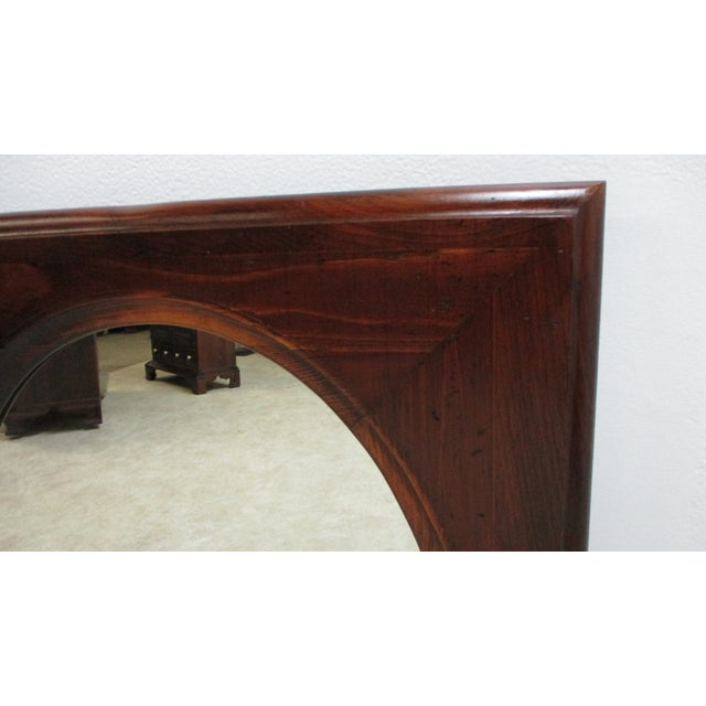 1970s Ethan Allen Old Tavern Pine Console Dresser Hanging Wall Mirror For Sale - Image 5 of 11