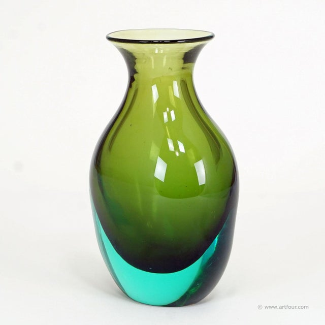 Mid-Century Modern Antonio Da Ros For Gino Cenedese Sommerso Vase Ca. 1960 For Sale - Image 3 of 4