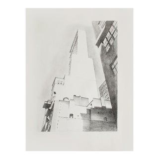 Manhattan, Delmonico Building by Charles Sheeler, 1939 First Edition Period Lithograph For Sale
