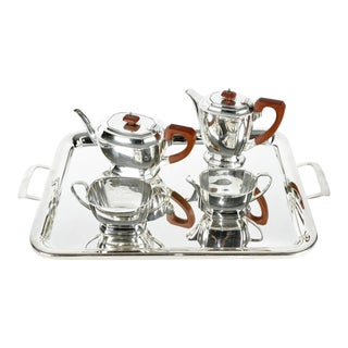 Art Deco Silver Plated Tea/Coffee Set For Sale