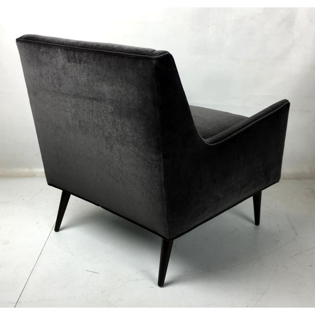 Velvet Lounge Chair For Sale - Image 4 of 5