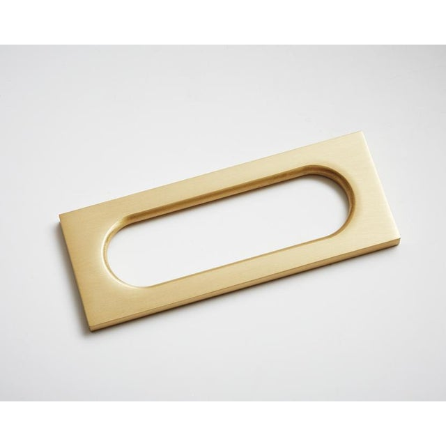 2020s Nest Studio Collection Mod-04 Satin Brass Handle For Sale - Image 5 of 5