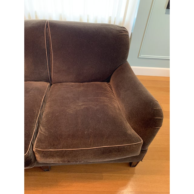 Modern Schumacher Mohair Three Seat Sofa / 2 Available For Sale - Image 11 of 12