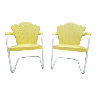 Mid 20th Century Marvelous Metal Rocking Chairs - a Pair For Sale