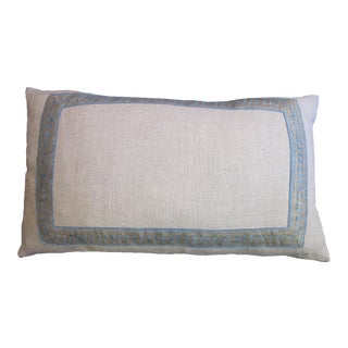 Fortuny Belgian Linen Pillow For Sale