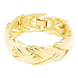 Arrow Shaped Gold Plated Bracelet by Givenchy For Sale