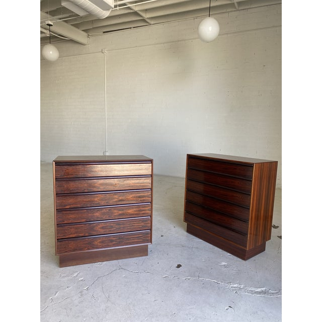 1960s Westnofa Brazilian Rosewood Highboy Dressers-a Pair For Sale - Image 11 of 11