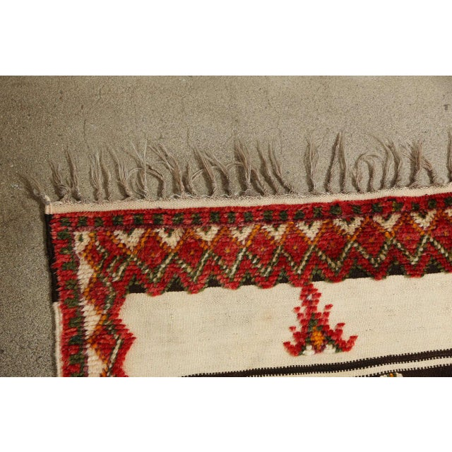 Moroccan Vintage Tribal Rug For Sale - Image 9 of 10