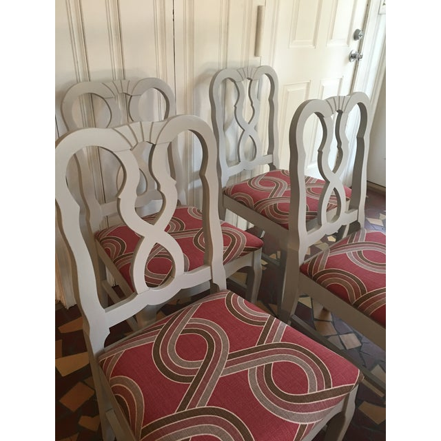 Dove Gray Ribbon Back Chairs - Set of 4 - Image 7 of 8