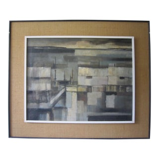 Mid Century Abstract Painting For Sale