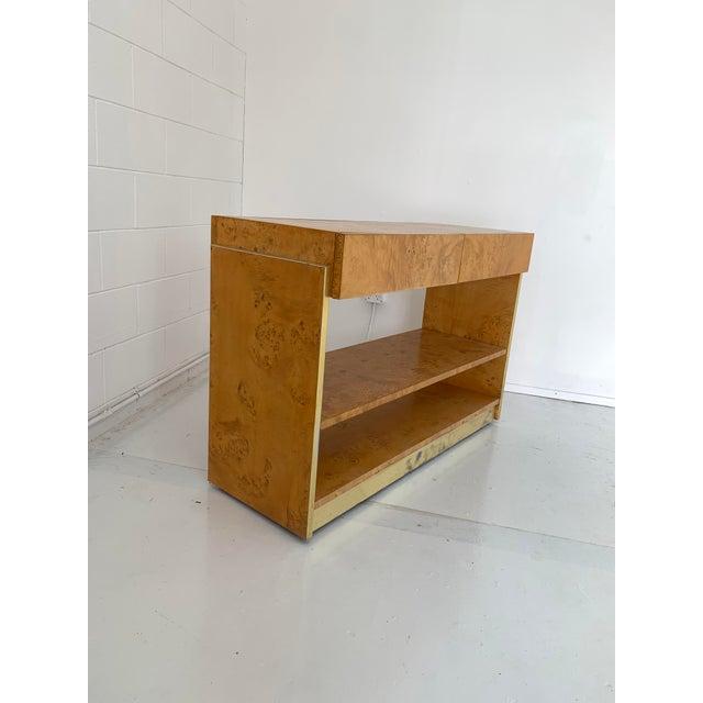 Mid-Century Modern 1970s Vintage Burlwood Dry Bar For Sale - Image 3 of 12
