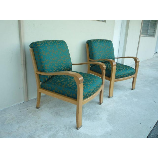 Pair of J. Robert Scott Sally Sirkin Lewis Deco Lounge Chairs For Sale - Image 11 of 13