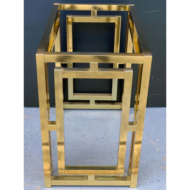 Milo Baughman Style Brass Table Base For Sale - Image 10 of 12